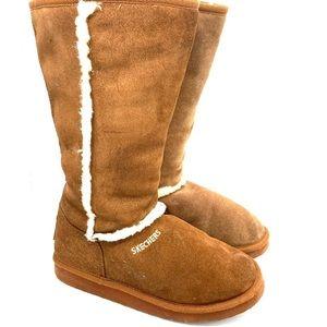 SKECHERS Tan Winter Boots